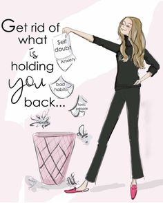 Motivational Quotes For Women Discover Get Ride of What is Holding YOU Back - Heather Stillufsen Holiday - Fashion Illustration - Art for Women - Quotes for Women - Motivational Quotes For Women, Inspirational Quotes, Quotes To Live By, Me Quotes, Devil Quotes, Monday Quotes, Girly Quotes, Courage Quotes, Sassy Quotes