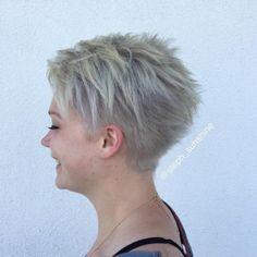 Ash Blonde Choppy Pixie