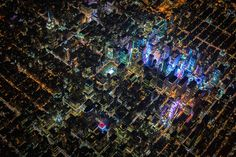 """GOTHAM 7.5K"" PHOTO PROJECT SOARS ABOVE NEW YORK AT NIGHT"