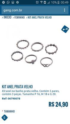 Kit Anéis R$ 24,90