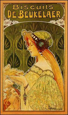 Henri Privat-Livemont / Biscuits de Beukelaer, 1900