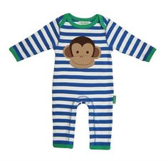 Picture of Monkey applique baby grow