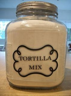 Canning Granny: Dry Mixes in a Jar. Tortilla Mix (a couple of 'em) (Dry Ingredients In A Jar) I Love Food, Good Food, Yummy Food, Do It Yourself Food, Little Lunch, Cooking Recipes, Cooking Tips, Cooking Corn, Frugal Recipes