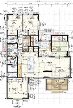 Architecture Concept Drawings, Japanese Architecture, Architecture Plan, House Layout Plans, Small House Plans, House Layouts, Classic House Exterior, Villa Plan, Schematic Design