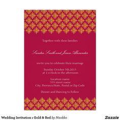 Wedding Invitation ı Gold & Red