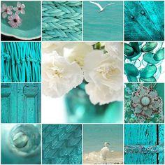 Turquoise And Aqua Love Shades Of Turquoise, Bleu Turquoise, Aqua Blue, Collages, Aqua Door, Color Collage, Montage Photo, Color Turquesa, Beautiful Collage