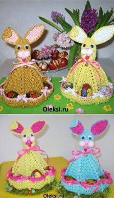 The easter hares connected by a hook: Knitting on oleksi. Come Play With Me, A Hook, Crochet Designs, Hare, Easter, Christmas Ornaments, Knitting, Holiday Decor, How To Make