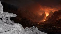 Volcano and glacier matte painting breakdowns on Vimeo