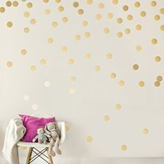 Image result for Silver Wall Decal Dots (200 Decals) | Easy Peel & Stick + Safe on Walls Paint | Removable Metallic Vinyl Polka Dot Decor | Round Circle Art Glitter Sayings Sticker Large Paper Sheet Set Nursery Room https://www.amazon.com/dp/B01BNWDYO2/ref=cm_sw_r_cp_api_NQBszbW1HD9T8
