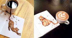 Malování+kávou+aneb+různé+druhy+kávy+jako+kočky