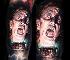 Evil Dead tattoo by Paul Acker
