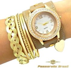relogio feminino de pulso bracelete quartz
