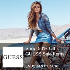 Guess Coupon	 - 50% Off  Shop 50% Off GUESS Sale Items! Limited time offer. Click here! Ends 01/01/2018  Brought to you by http://www.imin.com and http://www.imin.com/store-coupons/guess