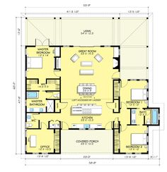 Farmhouse Style House Plan - 3 Beds 2.50 Baths 2168 Sq/Ft Plan #888-7 Floor Plan - Main Floor Plan - Houseplans.com