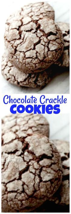 Chocolate Crackle Cookies. Easy to make chocolate cookies that makes a great one to add to your holiday baking or anytime you want an amazing chocolate cookies.