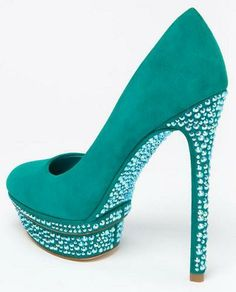 Turquoise Bling Heels