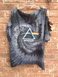 Pink Floyd Dark Side of the Moon // sliced // cut // grunge// t shirt // tie dyed // band shirt on Etsy, $20.00