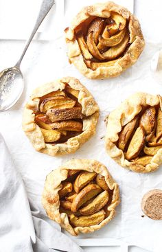 Ingredients for a Beautiful Life!Peach Galettes With Cinnamon And Vanilla Ice-Cream