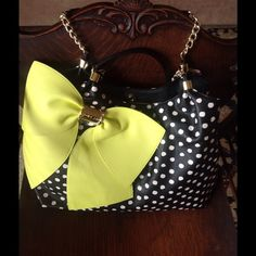 Betsey Johnson Bag What a fabulous pop of color you will love this bad chain straps...definitely a conversation piece wear with jeans or an all white dress wow rock it girl! Betsey Johnson Bags Shoulder Bags