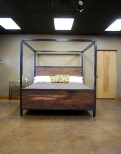 Custom Canopy Bed welded frame canopy bed | elemental restorations decorating ideas
