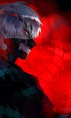 Kaneki Ken, ghoul, white hair, mask, centipede; Tokyo Ghoul