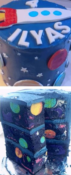 This galaxy cake is just as amazing on the inside as it is on the outside. This galaxy cake is just as amazing on the inside as it is on the outside. Pretty Cakes, Beautiful Cakes, Amazing Cakes, Cupcakes, Cupcake Cakes, Surprise Inside Cake, Planet Cake, Fig Cake, Galaxy Cake