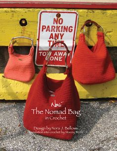 free knitting patterns, yarns and knitting supplies - Noni The Nomad Bag in Crochet