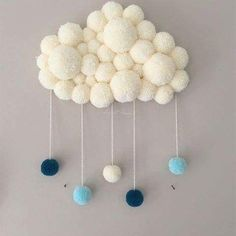 50 New Ideas for kids room rug diy pom poms Baby Crafts, Diy And Crafts, Crafts For Kids, Arts And Crafts, Pom Pom Rug, Pom Pom Crafts, Kids Room Wall Art, Pinterest Diy, Diy Art