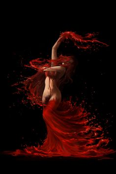 A blood ritual..my lover's bite..rebirth..death to life immortal.
