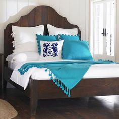 Vintage Fir Gustavian Bed - Reclaimed Wood Furniture | VivaTerra