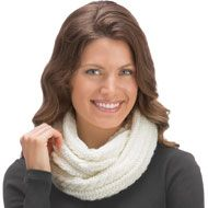 Soft Cable Knit Infinity Scarf - 36735