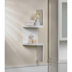 Shop for Weston White 2-Shelf Corner Wall Display. Get free shipping at Overstock.com - Your Online Home Decor Outlet Store! Get 5% in rewards with Club O! - 20844510
