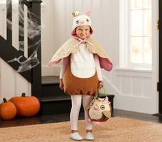 Owl Costume | Pottery Barn Kids  Cool idea for Pagan parents: Help your kid find their totem animal and have that be their costume! :-D