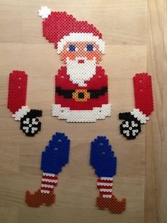 Jumping Jack Santa - Christmas hama beads by Julie Loose
