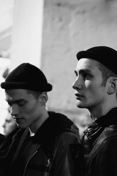 "gosmoke: "" Backstage at Boris Bidjan Saberi Fall 2013 """