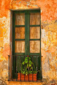 Old Green Window | Old Town Sacramento | California | Photo By Nelieta Mishchenko