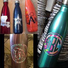 Swell monogram Water bottle monogram by DoodleBugDandies on Etsy @hbm106