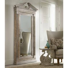 Hooker Furniture Floor Mirror with Jewelry Armoire Storage | from hayneedle.com