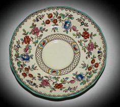 English Porcelain - Vintage Copeland Spode's Royal Jasmine AUDLEY saucer 138mm for sale in Johannesburg (ID:219195844)