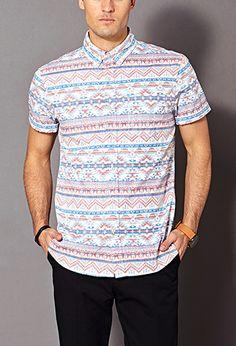 Reverse Tribal Print Shirt | 21 MEN - 2000090099