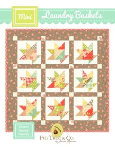 Laundry Baskets Mini Quilt by Fig Tree Quilts