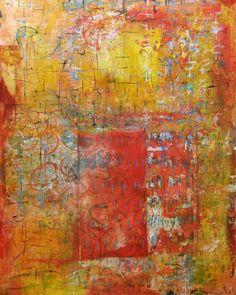 "Pompeian Graffiti II 40"" x 48 Acrylic on panel Laura Wait"