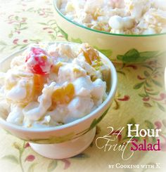 24 Hour Fruit Salad is the ambrosia of the South!  #thanksgiving #cookingwithk