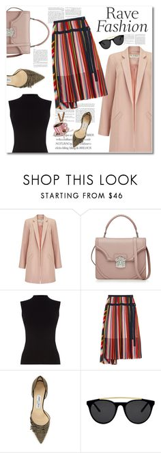 """""""middle"""" by limass ❤ liked on Polyvore featuring Miss Selfridge, Alexander McQueen, Oasis, Sacai, Jimmy Choo and Smoke & Mirrors"""