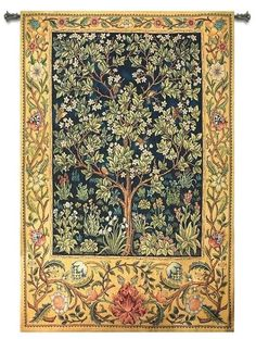 William Morris Paintings | WILLIAM MORRIS TREE OF LIFE ART TAPESTRY WALL HANGING LARGE 56 X 80