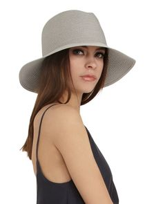 Ryan Roche Crushable Straw Hat in Alabaster // Handcrafted woven straw Fedora // Made in New York