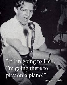 "Jerry Lee Lewis (born September is an American rock and roll and country music singer-songwriter and pianist. He is known by the nickname ""The Killer"" and is often viewed as ""rock & roll's first great wild man. Jerry Lee Lewis, 50s Music, Music Icon, Rock And Roll, Psychobilly, Recital, Alter Ego, Motif Music, Louisiana"