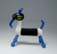 Blow-molded plastic and vinyl Harmoniky Goat accordion toy, Czechoslovakia, 1964-65, by Libuše Niklová.