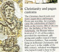 Christmas is not based on the Bible — Christmas was the date of a ...