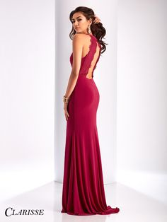 Simple Clarisse 2017 Prom Dress Style 3048. If you don't like all of the sparkle, this simple dress with a sexy side slit and open back is for you! Purchase this dress at your Clarisse retailer before it's gone! COLOR: Berry, Smoke SIZE: 00-16